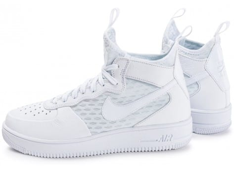 Nike Air Force 1 UltraForce Mid blanche - Chaussures Baskets homme ...