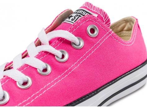 Chaussures Converse Chuck Taylor All Star Low Rose vue dessus