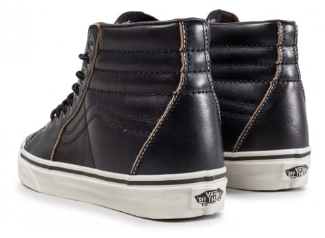 a58053af30ee Vans Old Skool Mid cuir noire - Chaussures Chaussures - Chausport
