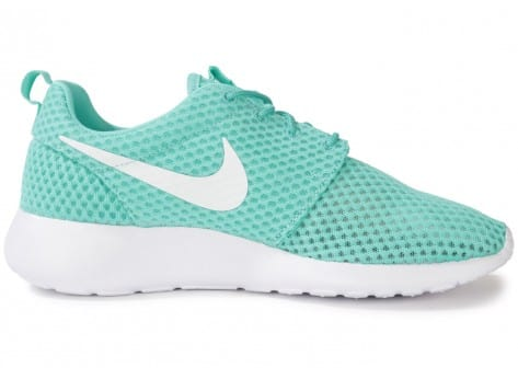 big sale 05849 afe01 ... Chaussures Nike Roshe Run Breeze Turquoise vue dessous ...