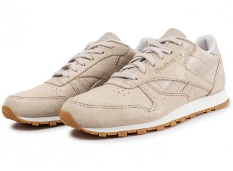 reebok cl leather clean exotic