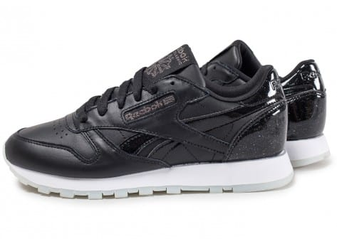 Reebok Baskets/Running Classic Leather Patent Pearl W Noire Femme