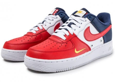 Nike Air Force 1 '07 LV8 Mini-Swoosh bleu blanc rouge