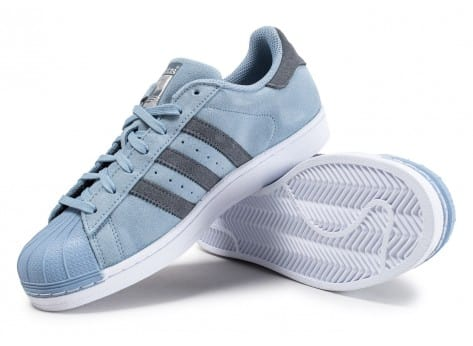 Chaussures adidas Superstar Suede Tactile Blue vue avant