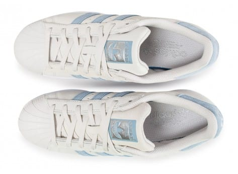 Chaussures adidas Superstar Suede Pearl Grey vue arrière