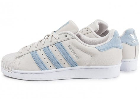 Chaussures adidas Superstar Suede Pearl Grey vue extérieure
