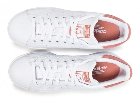 size 40 b8e08 2fe90 ... Chaussures adidas Stan Smith Triangle Raw blanche et rose vue arrière  ...