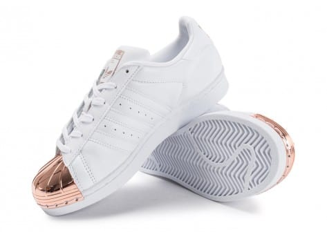 ... Chaussures adidas Superstar 80s Metal Toe blanche vue avant ...