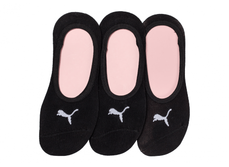 Puma Chaussettes 3 paires Footies blanches