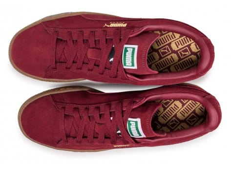 new products d589f ffcac Gum Homme Baskets Classic Bordeaux Chausport Puma Suede Chaussures Cq07wx6t