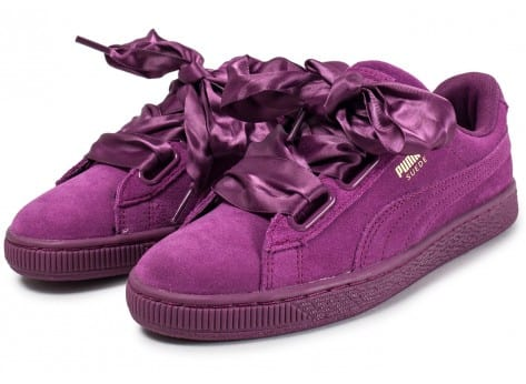 low priced fd540 6359d Puma Suede Heart Satin II Dark Purple