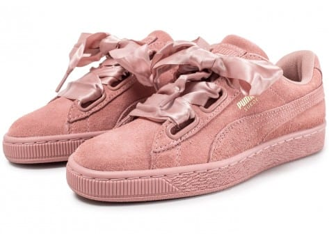 buy online 397b1 c38b5 Puma Suede Heart Satin II rose