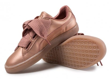 Chaussures Puma Basket Heart Copper vue avant