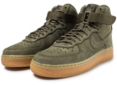 Nike Air Force 1 High WB Olive Chaussures Baskets femme