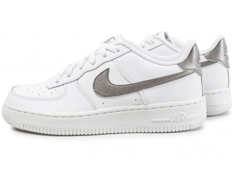 Nike Air Force 1 Junior blanc et argent