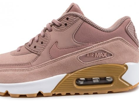 sale retailer 53cc2 e3aae ... Chaussures Nike Air Max 90 SE W rose Particle Pink vue dessus