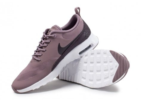 Chaussures Nike Air Max Thea taupe grey vue avant