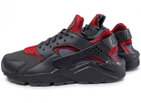 Nike Et Air Huarache Run Anthracite Et Nike Rouge Chaussures Baskets Homme 595bac