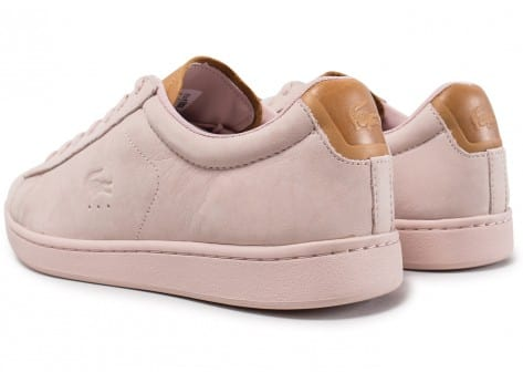 Chaussures Lacoste Carnaby Evo 317 rose vue dessous
