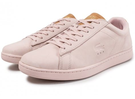 Chaussures Lacoste Carnaby Evo 317 rose vue intérieure