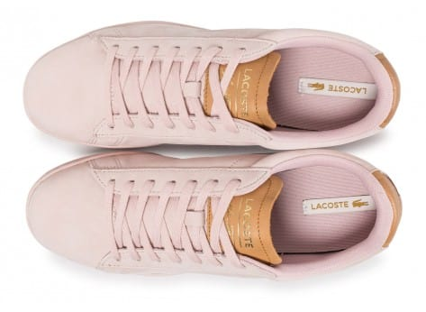 Chaussures Lacoste Carnaby Evo 317 rose vue arrière