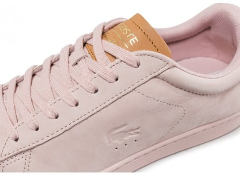 Chaussures Lacoste Carnaby Evo 317 rose vue dessus
