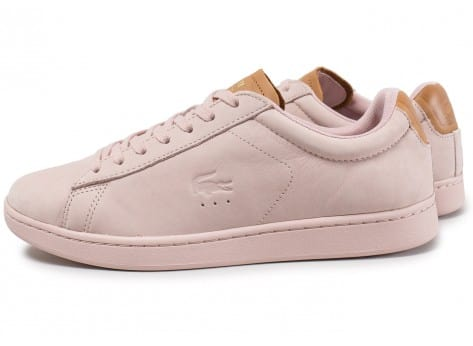 Chaussures Lacoste Carnaby Evo 317 rose vue extérieure