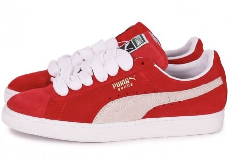 Chaussures Puma Suede Classic rouges Fashion