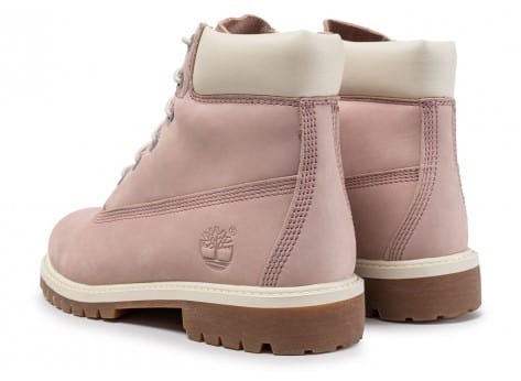 Chaussures Timberland 6-inch Premium Boots Junior Rose et Blanche vue dessous