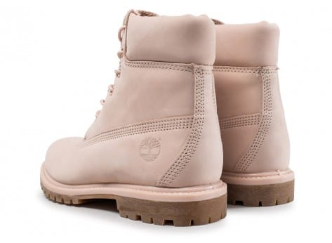Chaussures Timberland 6-inch Premium Boots rose vue dessous
