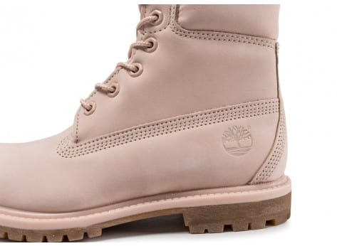 Chaussures Timberland 6-inch Premium Boots rose vue dessus