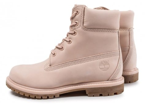 Chaussures Timberland 6-inch Premium Boots rose vue extérieure