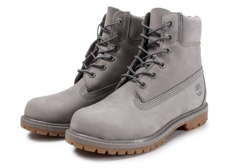Chaussures Timberland 6-inch Premium Boots grise vue avant