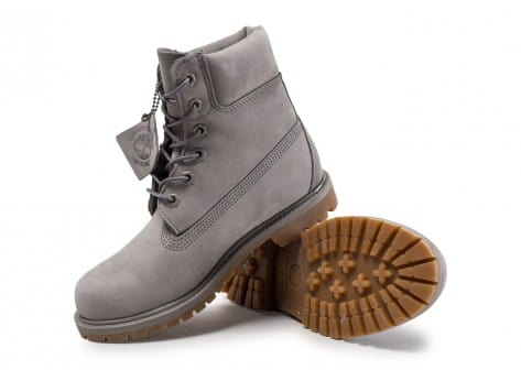 Chaussures Timberland 6-inch Premium Boots grise vue arrière