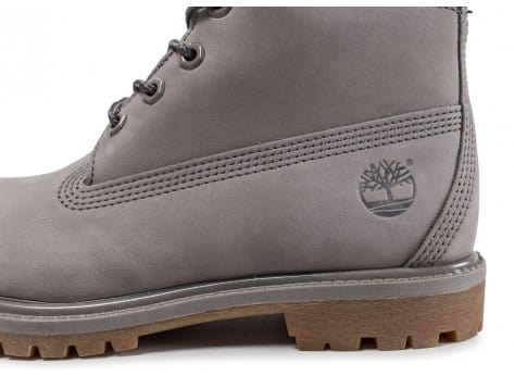 Chaussures Timberland 6-inch Premium Boots grise vue dessus