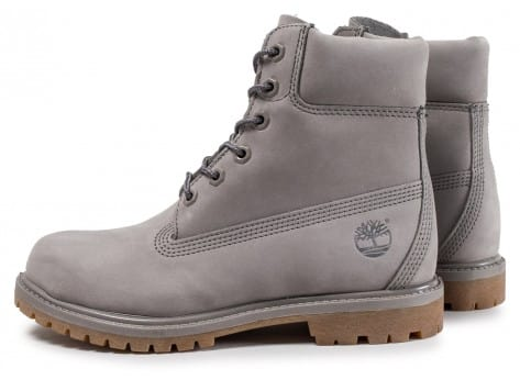 Chaussures Timberland 6-inch Premium Boots grise vue extérieure