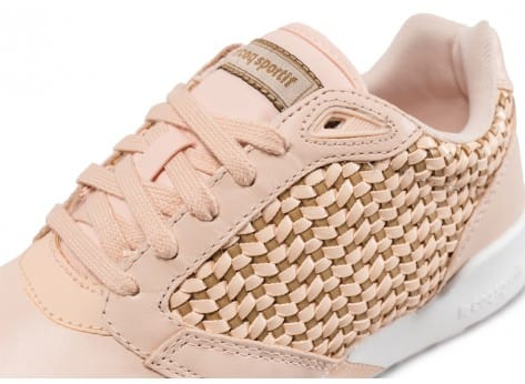 Chaussures Le Coq Sportif Omega X W Woven beige vue dessus
