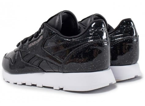 Chaussures Reebok Classic Leather Patent Pearl W noire vue dessous