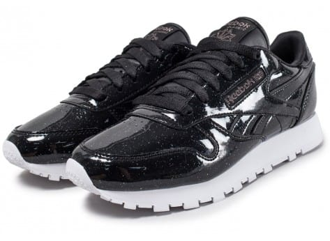 Chaussures Reebok Classic Leather Patent Pearl W noire vue intérieure