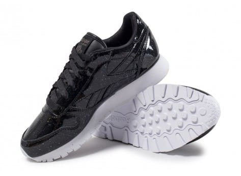 Chaussures Reebok Classic Leather Patent Pearl W noire vue avant