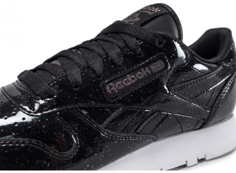 Chaussures Reebok Classic Leather Patent Pearl W noire vue dessus