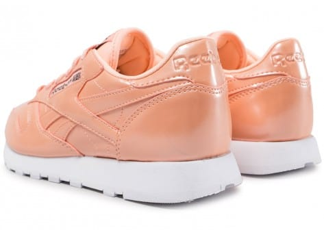 Chaussures Reebok Classic Leather PP orange vue dessous