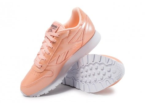 Chaussures Reebok Classic Leather PP orange vue avant