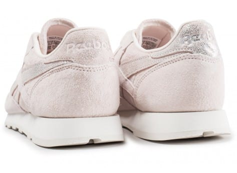 Chaussures Reebok Classic Leather Shimmer rose vue dessous