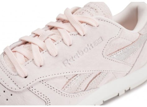 Chaussures Reebok Classic Leather Shimmer rose vue dessus