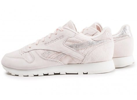Chaussures Reebok Classic Leather Shimmer rose vue extérieure