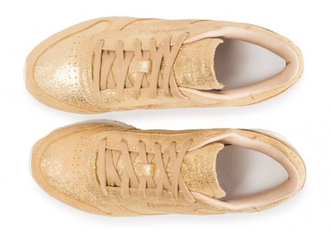 Chaussures Reebok Classic Leather Shimmer or vue arrière