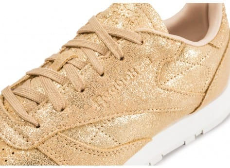 Chaussures Reebok Classic Leather Shimmer or vue dessus