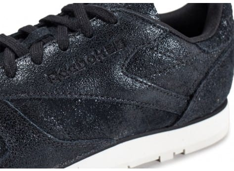 Chaussures Reebok Classic Leather Shimmer noire vue dessus