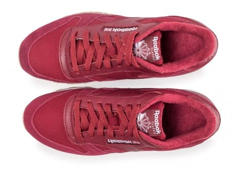 Chaussures Reebok Classic Leather Essential rouge vue arrière